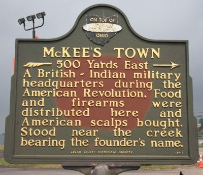 McKee's Town Marker image. Click for full size.