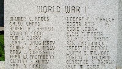Vernon County WWI Honor Roll image. Click for full size.