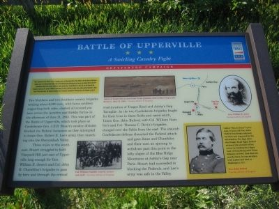 upperville men Vincent's men pushed the rebels back after furious mounted fighting, stuart withdrew to take a defensive position on vineyard hill in upperville.