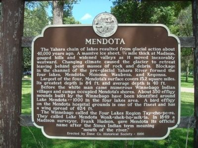 Mendota Marker image. Click for full size.