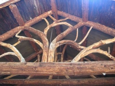 Architectural Detail Above the Entrance to the Log Cabin image. Click for full size.