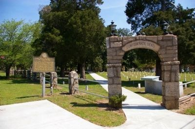 Two Days of Battle at Jonesboro Marker and Confederate Cemetery Entrance Photo, Click for full size