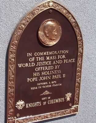 Pope John Paul II Mass Marker image. Click for full size.