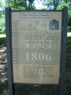 The Fairfax Family Marker image. Click for full size.