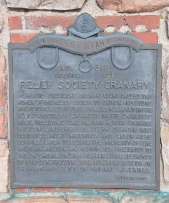 Relief Society Granary Marker image. Click for full size.