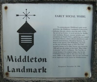 Early Social Whirl Marker image. Click for full size.