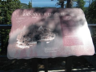 Fannette Island Marker Photo, Click for full size