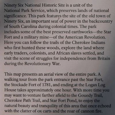 Ninety Six National Historic Site Marker image. Click for full size.