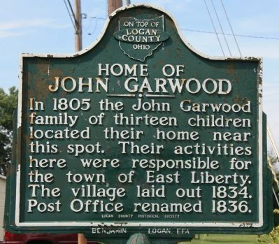 Home of John Garwood Marker Photo, Click for full size