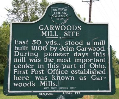 Garwoods Mill Site Marker Photo, Click for full size