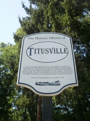The Historic District of Titusville Marker image. Click for full size.
