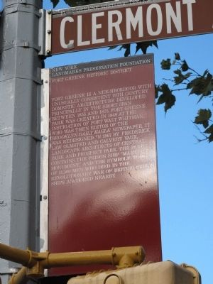 Fort Greene Historic District Marker image. Click for full size.