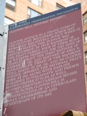 Clinton Hill Historic District Marker image. Click for full size.