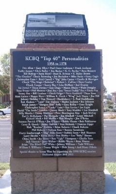 "KCBQ ""Top 40"" Personalities Marker image. Click for full size."