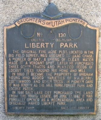 Liberty Park Marker image. Click for full size.