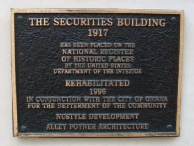 The Securities Building Marker image. Click for full size.