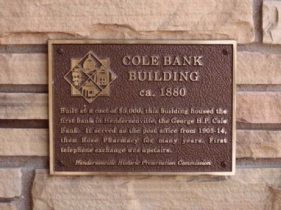 Cole Bank Building Marker image. Click for full size.