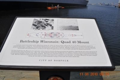 Battleship Wisconsin: Quad 40 Mount Marker image. Click for full size.