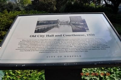 Old City Hall and Courthouse, 1850 Marker image. Click for full size.