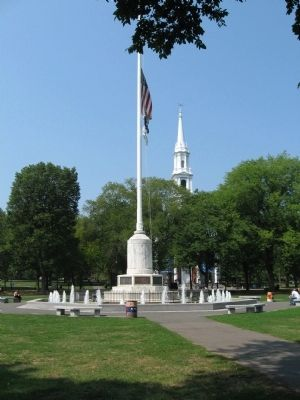 The Fountain Around the Memorial Flagpole image. Click for full size.