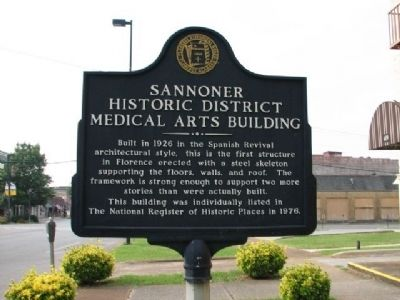 Sannoner Historic District Medical Arts Building Marker image. Click for full size.