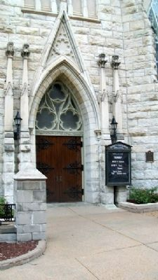 Trinity Episcopal Cathedral and Marker image. Click for full size.