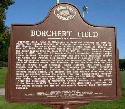 Borchert Field Marker Photo, Click for full size