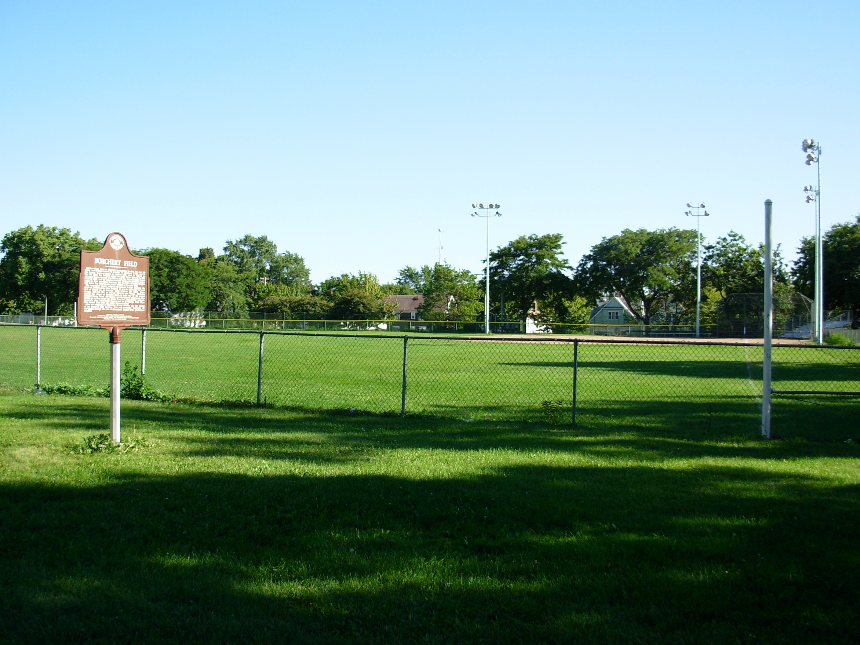 Borchert Field/The Milwaukee Bears Negro National League 1923 (Two sided marker) Marker