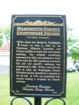 Washington County Courthouse Square Marker image. Click for full size.