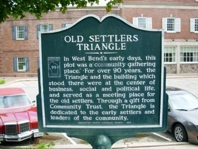 Old Settlers Triangle Marker image. Click for full size.