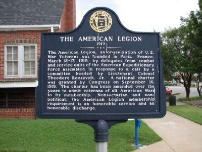 The American Legion 1919 Marker image. Click for full size.