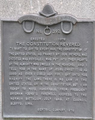 The Constitution Revered Marker Photo, Click for full size