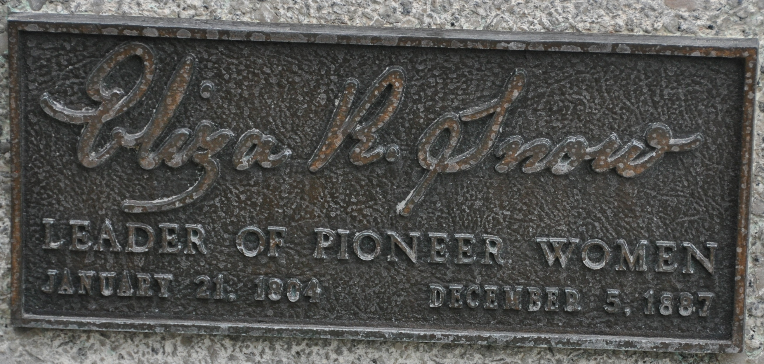 Eliza R Snow - Leader of Pioneer Women Marker