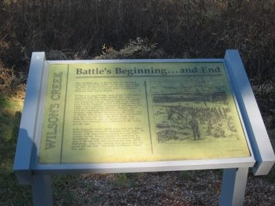 Battle's Beginning ... and End Marker image. Click for full size.