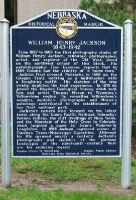 William Henry Jackson Marker image. Click for full size.