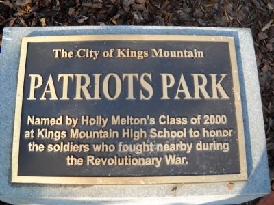 Patriots Park Marker image. Click for full size.