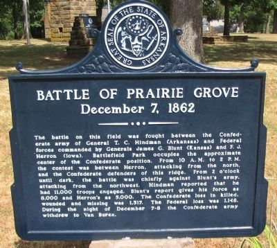Battle of Prairie Grove Marker image. Click for full size.