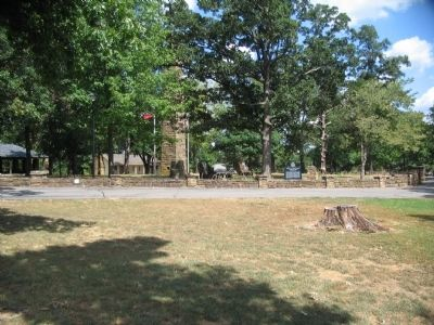 Markers and Monuments in front of Visitor Center image. Click for full size.