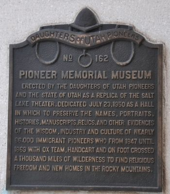 Pioneer Memorial Museum Marker image. Click for full size.