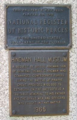 Hindman Hall Museum Marker image. Click for full size.