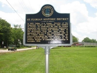 St. Florian Historic District Marker image. Click for full size.