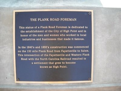 The Plank Road Foreman Marker image. Click for full size.