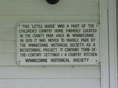Little House Marker image. Click for full size.