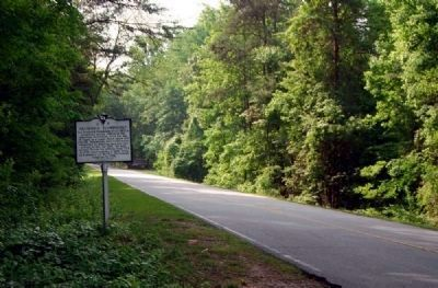 Frederick Hambright Marker -<br>Looking South Along Battlefield Drive image. Click for full size.