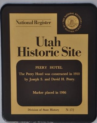 Peery Hotel Marker Photo, Click for full size