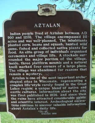 Aztalan Marker Photo, Click for full size