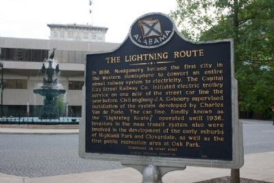 The Lightning Route / Central Bank Building Marker image. Click for full size.
