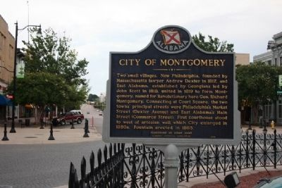 City of Montgomery Marker image. Click for full size.
