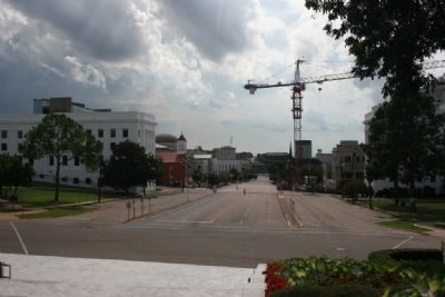 Dexter Avenue viewed from the steps of the State Capitol image. Click for full size.