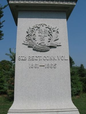 9th Regt. Conn. Vol. Memorial image. Click for full size.